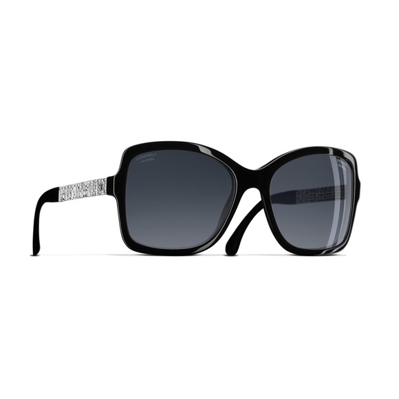 5a5f58269526 Square Winter Chanel Sunglasses. Black. Polarized.